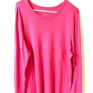 J. Jill perfect pima XL pink long sleeve tunic top